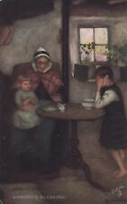 TUCK :SCOTTISH LIFE & CHARACTER 1 - Granny's Blessing -DOBSON -OILETTE 9271
