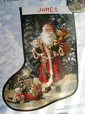 Candamar Christmas Needlepoint Stocking Holiday Craft Kit,SANTA,Gelsinger,#30896