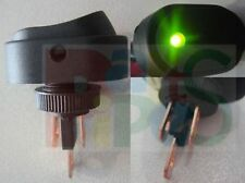 Pilot Indicator Green LED Waterproof 30Amp 12V 12mm Mounting Rocker Switch G20D