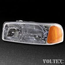 2005-2007 GMC Sierra 1500 3500 Headlight Lamp Driver Clear lens Full Size Left