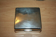 William Neale & Sons Sterling Silver Cigarette Case Box Humidor B'ham 1931/32