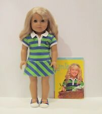 American Girl Lanie in Meet Outfit with Book- Excellent