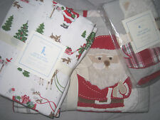 Pottery Barn Kids Dear Santa Nursery Toddler Crib Quilt + Sheet Set + Sham!