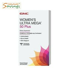 (New) GNC Women's Ultra Mega 50 Plus Multivitamin 120 Caplets - free shipping