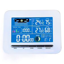 Indoor&Outdoor Thermometer Humidity Wireless Color Lcd Display Weather Station