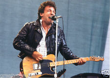BRUCE SPRINGSTEEN PHOTO 1985 UNRELEASED NEWCASTLE UK UNIQUE IMAGE 7 INCH X 5