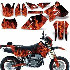 Decal Graphic Kit Suzuki DRZ400  SM E Dirt Bike Sticker w Backgrounds ICE ORANGE