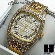 HIP HOP LUXURY ICED OUT ELGIN LAB DIAMOND PAVE WRIST BRACELET WATCH  FG7098G