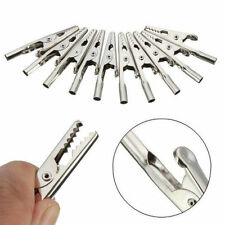 Quality 10 Pcs Stainless Steel Alligator Crocodile Clips Test Cable Lead Screw