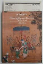 Auction Catalog Sotheby's NY 1985 Chinese And Japanese Decorative Works Of Art