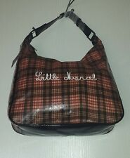 LITTLE MARCEL GRAND SAC EN PVC MARRON RAYURES ET CARREAUX