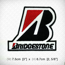 new Bridgestone EMBROIDERED PATCH IRON ON OR SEW MOTOR SPORTS RACING SPEED TIRE