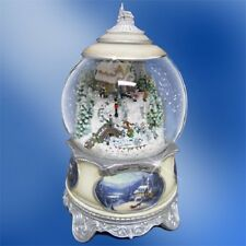 Silent Night Christmas Water Globe Snow Globe Songs of the Season Thomas Kinkade