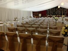 30 Hessian Chair Cover Sashes