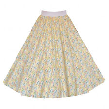 Ladies Floral 50's Vintage Retro Midi Jive ROCK AND ROLL Swing Skirt ADULT