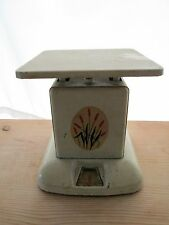 Universal Pottery Red Cattail Kitchen Scale Vintage 30's 40's cream