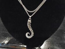 "Hi Quality octopus tentacle 925 SILVER necklace 2"" 21 gram pendant 27"" necklace"
