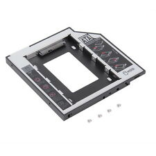 9.5mm Universal SATA 2nd HDD SSD Hard Drive Caddy for CD / DVD-ROM Optical Bay E