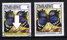 Zimbabwe 2007 ERROR 'yellow box' in R-value of the Butterflies issue, MNH / **