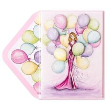 Papyrus Bella Pilar greeting Extraordinary Happy Birthday Diva Gown Balloon Card