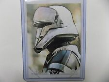 2016 Topps Star Wars Rogue One Sketch Card Trooper by Carlos Cabaleiro 1/1