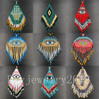 Charming Bohemia Japanese Seed Beads Tassel Pendant Necklace Handmade Hot