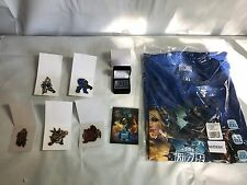 Lot (8) BLIZZCON 2016 WoW Starcraft Heros of the Storm Pins T Shirt 2XL Magnet