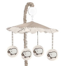 SWEET JOJO DESIGNS MUSICAL MOBILE FOR SHEEP LAMB FARM ANIMALS BABY CRIB BEDDING