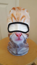 Cat Balaclava Ginger Mask Funny Printed Photo Real Prank Biker Ski Fancy dress