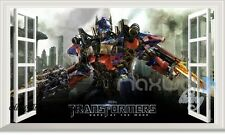 60X100 Transformer Optimus Prime 3D Window Wall Decals Removable Sticker Kids