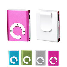 USB Clip MP3 Music Media Player Mini Clip Metal Support 32GB Micro SD TF Card