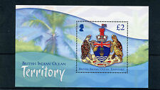 BIOT British Indian Ocean Territory 2014 MNH Crests 1v S/S Turtles Stamps