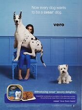 CESAR dog food 2012 Great Dane dog magazine ad print art clipping westie terrier