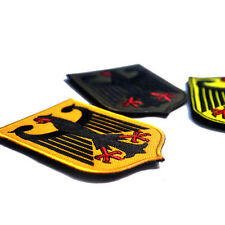 3 PCS GERMAN EAGLE GERMANY ARMY MORALE BADGE 3D TACTICAL EMBROIDERED HOOK PATCH