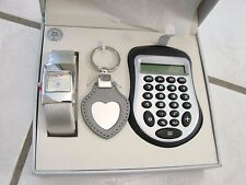 Gift set watches Charles Raymond Executive boxed w/calculator key chain box wear