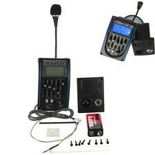 Acoustic 5-Band Guitar Preamp EQ Equalizer Piezo Pickup Tuner Amplifier LCD +Mic