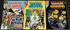 Vintage DC Copper Age WAR OF THE GODS 3pc Count Comic Lot FN-VF Superman Batman