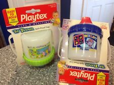 COLLECTORS 2 PLAYTEX VINTAGE NO SPILL SIPPY CUPS FREE SHIPPING! VERY COOL L@@K!!