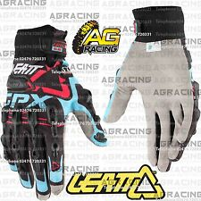 Leatt GPX 5.5 Windblock Black Blue Red Gloves Medium MED M Motocross Enduro ATV