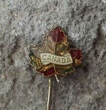 Canada Maple Leaf Autumn Fall Style National Canadian Flag Official Pin Badge