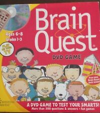 BRAIN QUEST NEW DVD GAME PLAY ON YOUR TV AGES 6-8 GRADES 1-3 BRIGHTER MINDS