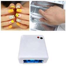 Pro. 36W Nail Art UV Lamp Light Dryer 4 X 9W Salon Gel Curing Tube US plug 110V