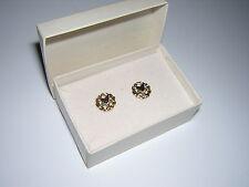 3/8in. Charm Pierced EARRINGS Gold? EASTERN STAR Ladies MASON vintage L@@K