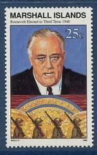 Marshall Islands 1990 World War 2 WW II Scott 266 FDR Elected 3rd Term W16 NH
