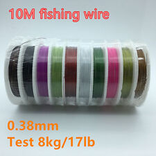 10pcs/barrel 1*7 Strands Stainless Steel Wire Fishing Wire line Trace Leader