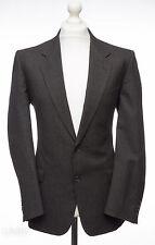 Vintage St Michael Grey & Blue Double Pin Stripe Tweed Jacket 40R