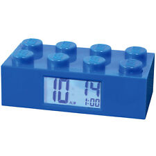 LEGO ALARM CLOCK BLUE - Child's Room Building Brick Blocks Toys