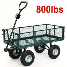 Tow Wood Carts NEW 800lbs Capacity Cart Utility Heavy Duty Steel Garden Flatbed