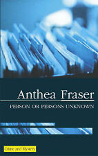 Anthea Fraser Person or Persons Unknown (Severn House Large Print) Very Good Boo