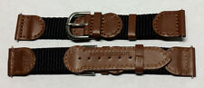 LOT OF 5 - 19MM BLK BRN SWISS ARMY LEATHER WATCH BAND! STOCK UP NOW!